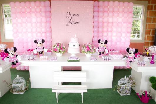Festa da Minnie rosa de 1 ano