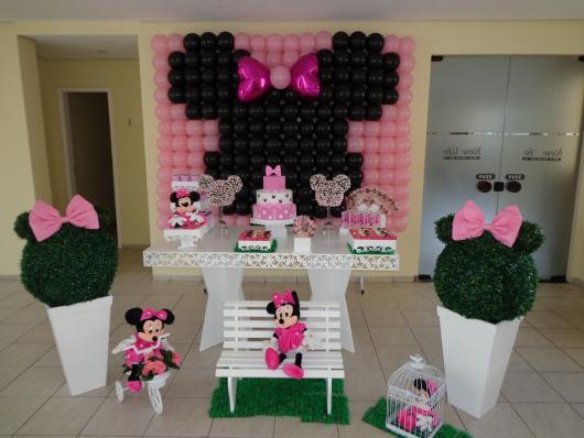 Festa da Minnie rosa modelo provençal