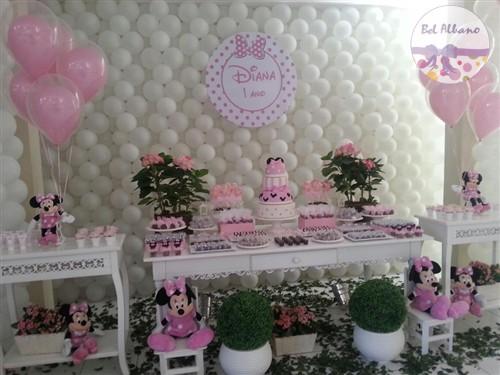 Festa da Minnie rosa 1 aninho