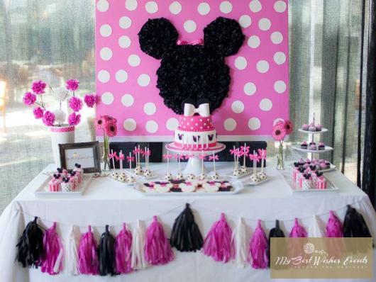 Festa da Minnie rosa modelo simples