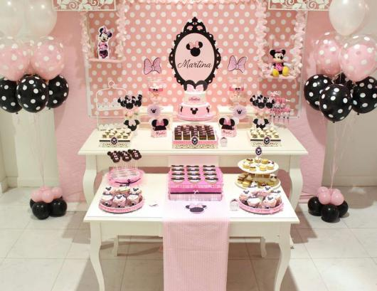Festa da Minnie rosa como decorar