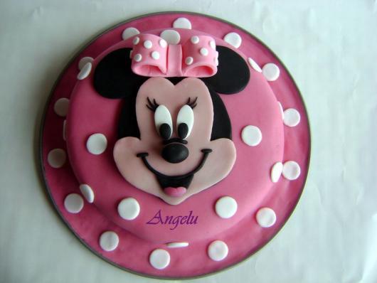 Festa da Minnie rosa bolo simples pasta americana