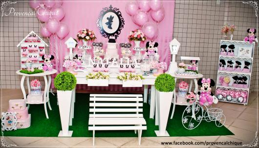 Festa da Minnie rosa dicas provençal