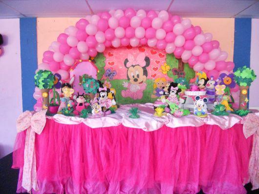 Festa da Minnie rosa baby modelo