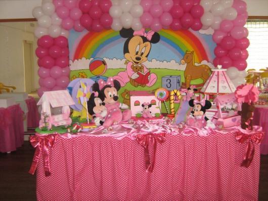 decoração Festa da Minnie rosa baby