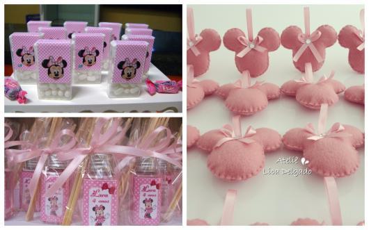 lembrancinhas da festa da minnie rosa