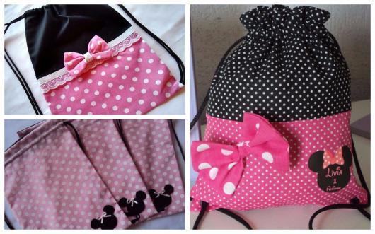 lembrancinhas da Minnie sacolas de pano