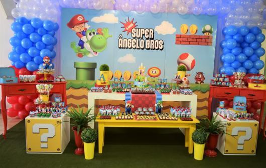 Parede decorada com adesivo Mario Bros