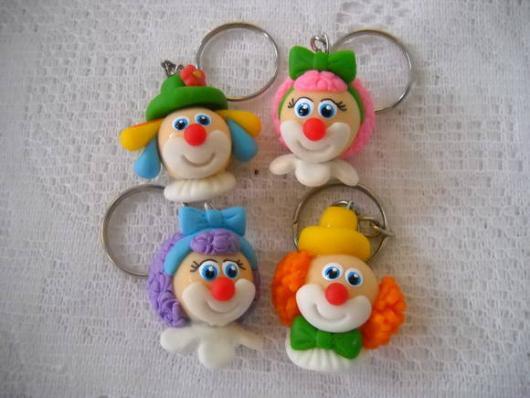 Lembrancinhas com tema circo chaveiro biscuit