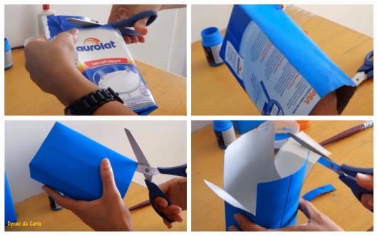 lembrancinha com caixa de leite