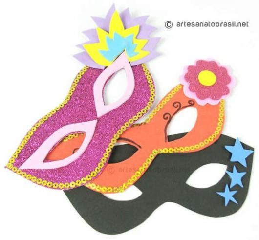 M scaras de carnaval 88 modelos criativos dicas como - Mascaras para carnaval ...