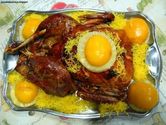 prato de natal decorado