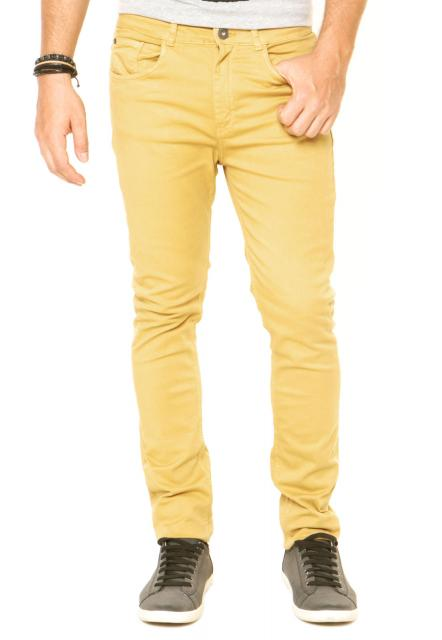 Roupa para festa neon calça masculina amarela