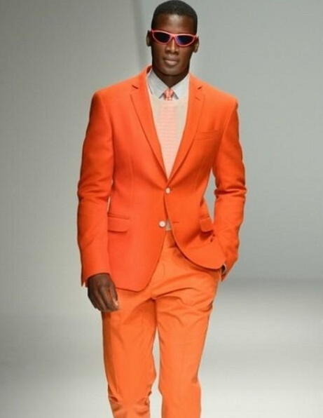 terno masculino laranja