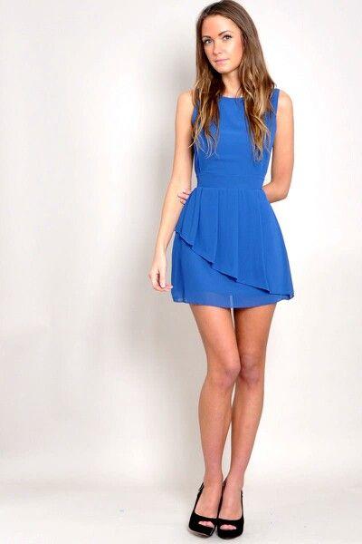 Roupa para festa neon vestido azul
