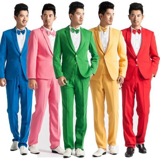 Roupa para festa neon ternos coloridos