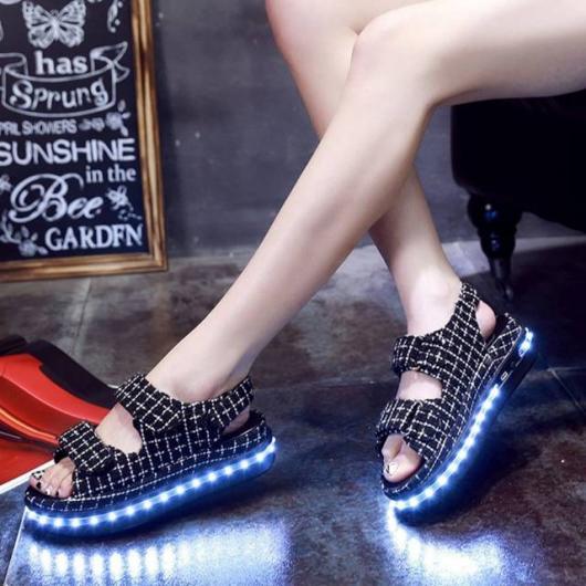 Roupa para festa neon sandália LED