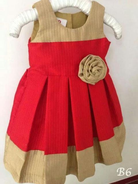 vestido vermelho criança