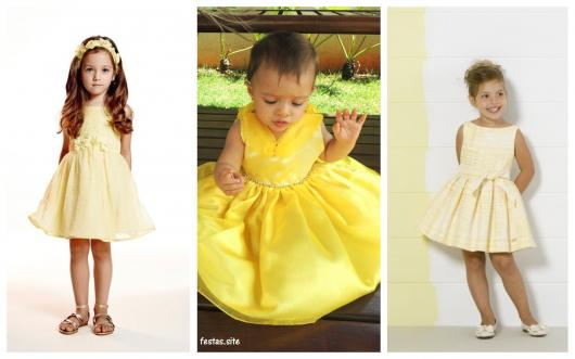 modelos de vestido amarelo