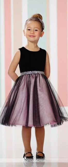 vestido preto e rosa