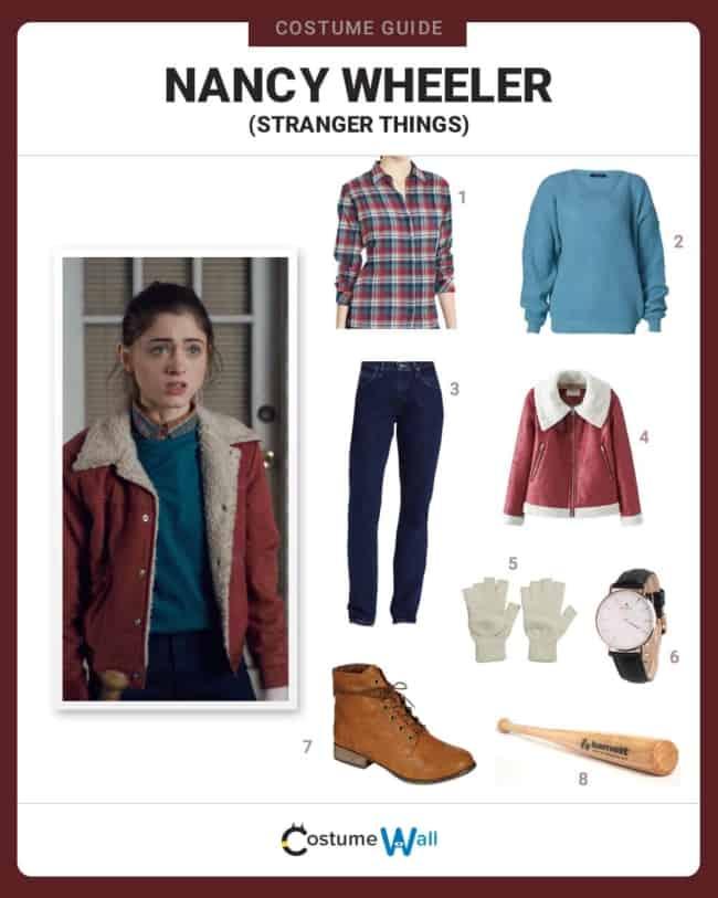 Como fazer uma fantasia de Stranger Things feminina Nancy Wheeler