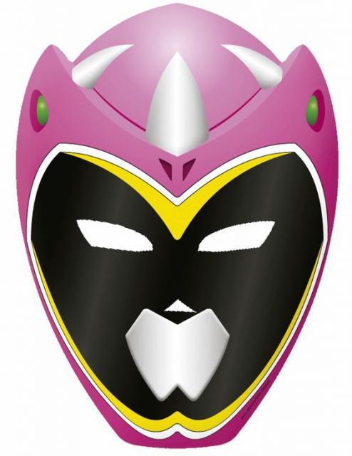 Modelo de Máscara Rosa para Impressão.