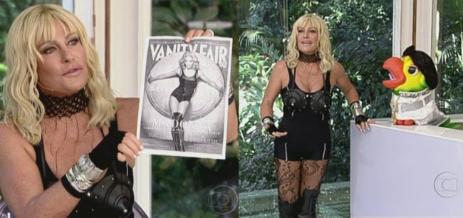 Fantasia da Ana Maria Braga fantasiada de Madonna
