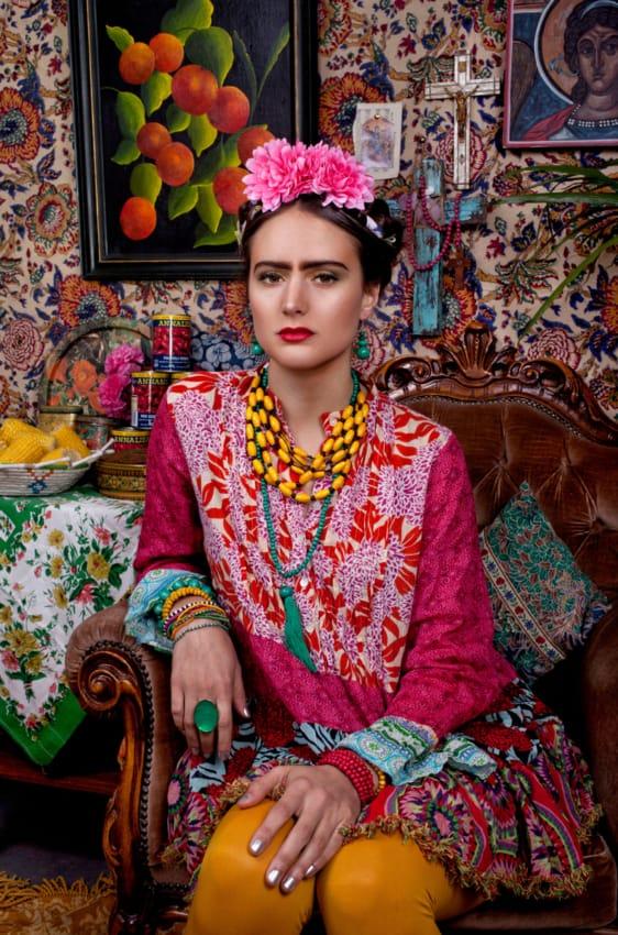 Fantasia da Frida Kahlo para festa a fantasia