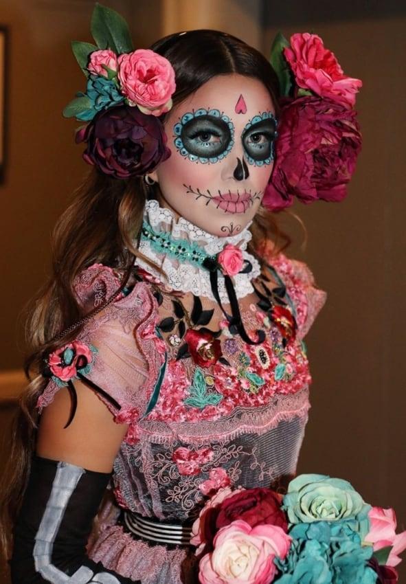 Fantasia de Caveira Mexicana Luxo