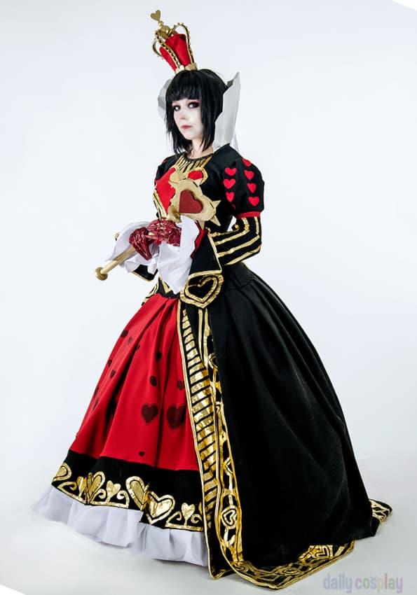 Fantasia de Rainha de Copas da Alice no País das Maravilhas
