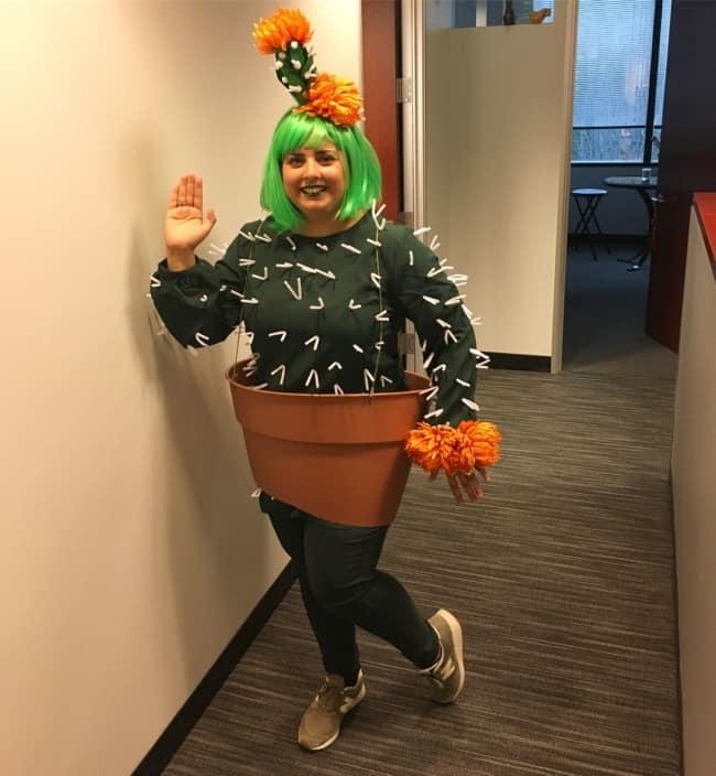 Fantasias femininas divertidas de cactus