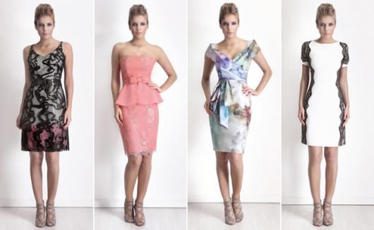 Modelo usa vestido em diversas opções de estampas e cores.