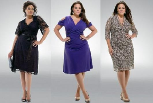 Montagem com modelos de vestido de festa para senhoras.