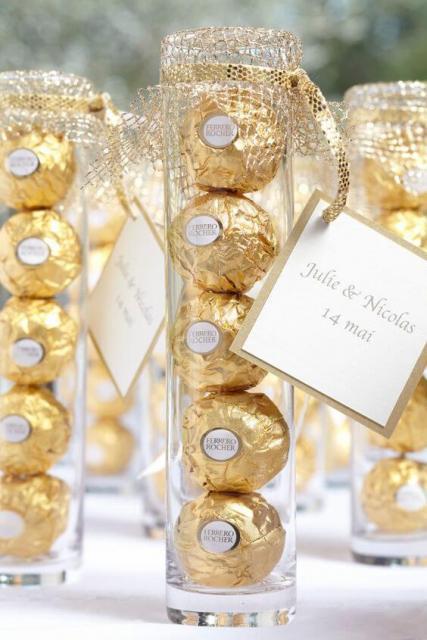 Chocolate para lembrancinha de Bodas de Ouro