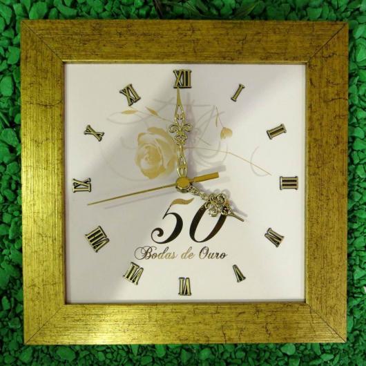 Presente Bodas de Ouro: Relógio Personalizado