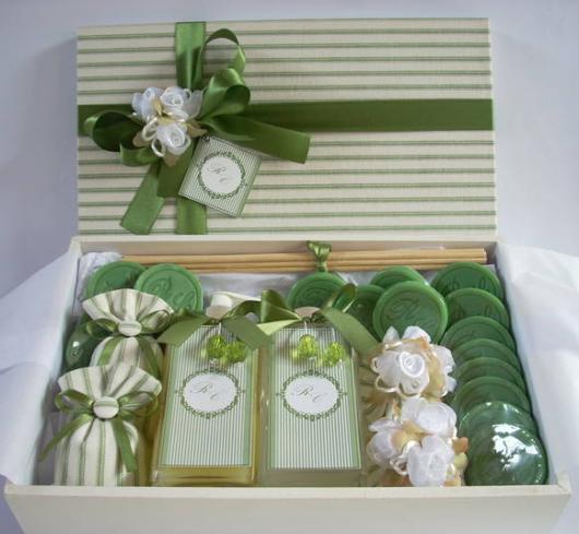 Bodas de Papel presentes kit sabonete