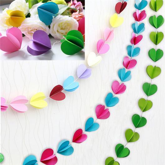 Bodas de Papel varal de corações de papel
