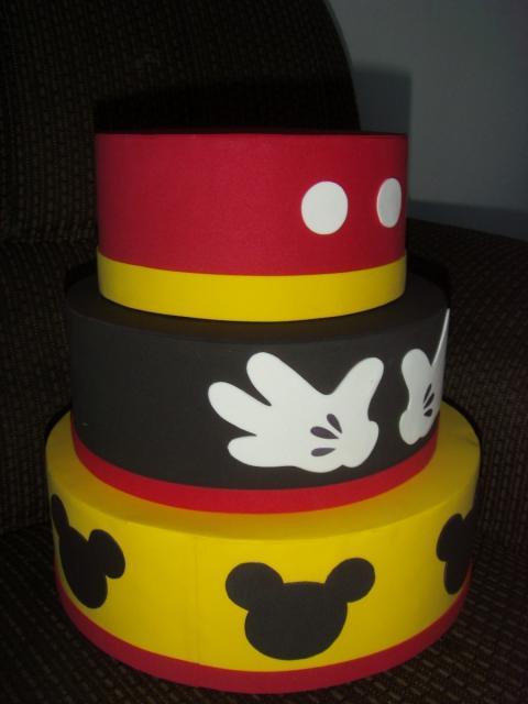 Moldes De Mickey >> Bolo Fake Mickey: 50 inspirações para uma festa lúdica e divertida!