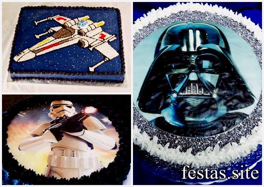 Bolo Star Wars modelos decorados com chantilly