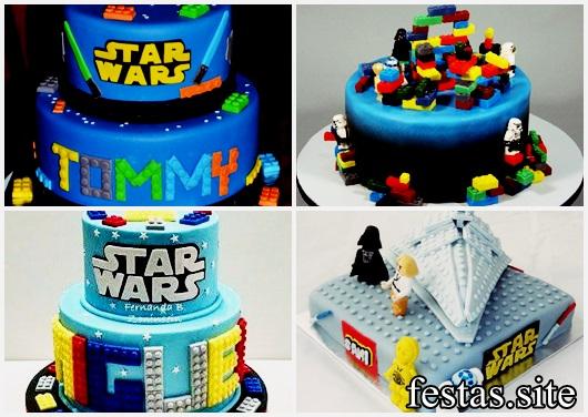 Bolo Star Wars modelos de lego