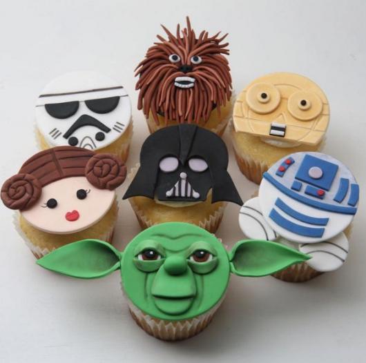 Bolo Star Wars cupcake dos personagens 3D