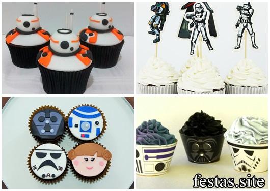 Bolo Star Wars modelos de cupcake