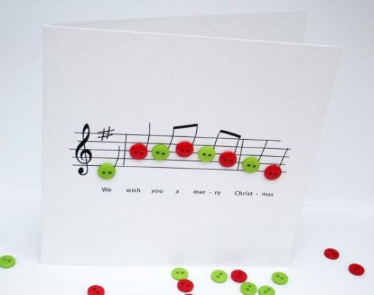 cartão musical simples