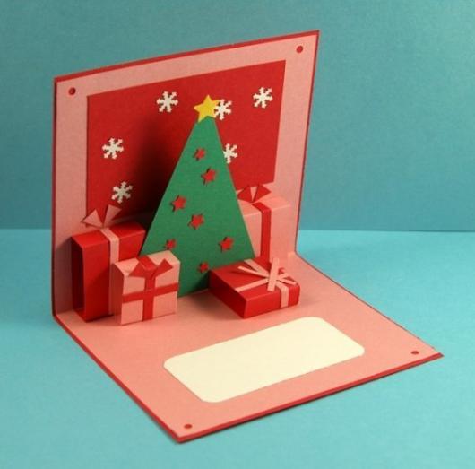 cartão 3D presentes
