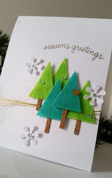 cartão decorado feltro