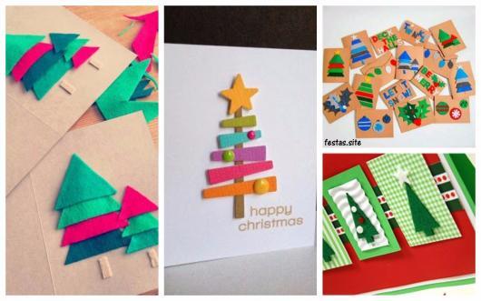cartões decorados em feltro