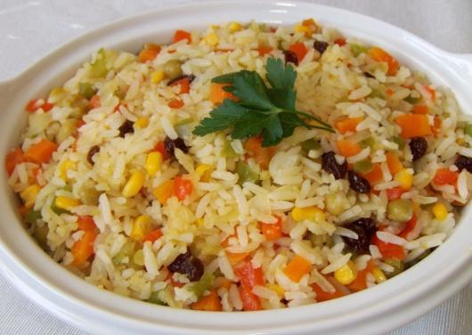 Ceia de Natal simples arroz a grega