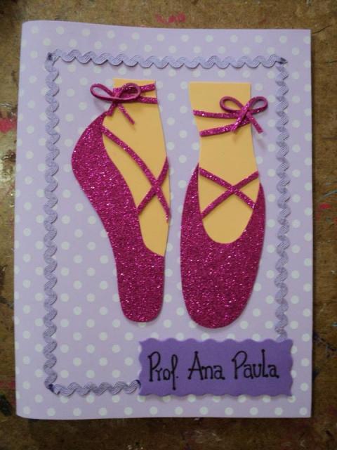 Convites bailarina de EVA lilás