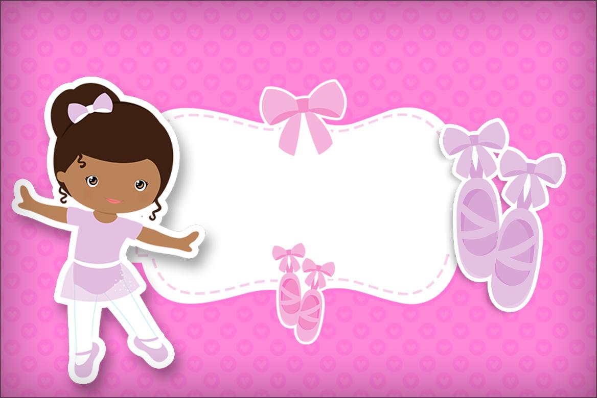 8946b8a352 45 Convites Bailarina Maravilhosos   Como Fazer em Casa!