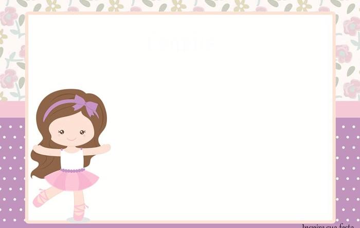 45 Convites Bailarina Maravilhosos Como Fazer Em Casa